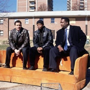 The Wire, orange couch