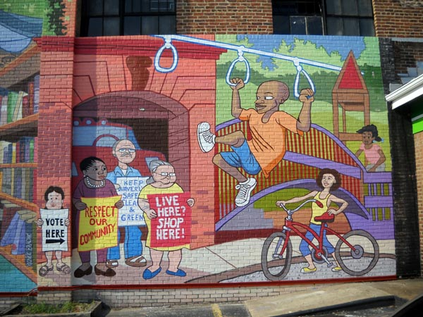 A mural in waverly welcome to baltimore hon for Baltimore mural program