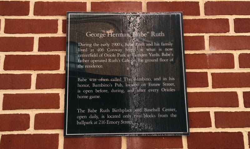 George Ruth's tavern, Baltimore. Babe Ruth's father